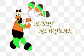 New Year Wishes - New Year Card Clip Art PNG