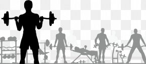 Fitness Silhouette Figures Material - Fitness Centre Free Content Clip Art PNG