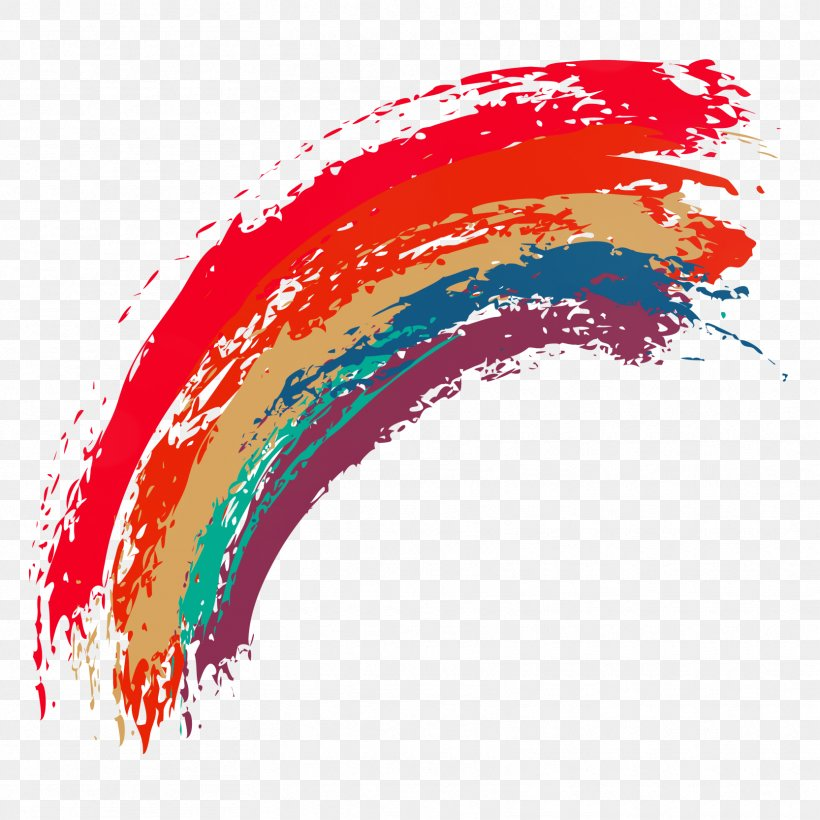Rainbow Euclidean Vector, PNG, 1666x1666px, Watercolor Painting, Art, Brush, Color, Drawing Download Free