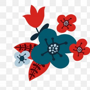 Red Flower Vector - Flower Christmas PNG