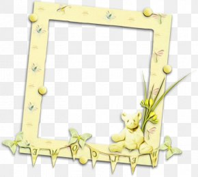 Picture Frame Text - Green Leaf Watercolor PNG