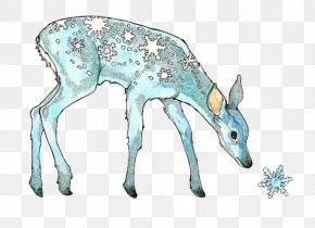 Bath Spa University - Reindeer Drawing Snow Watercolor Painting PNG