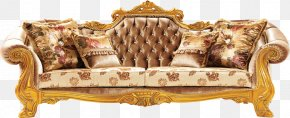 Chair - Couch Chair Furniture Living Room Wood Carving PNG