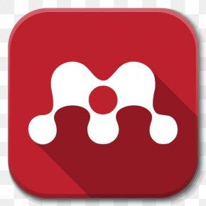 Apps Mendeley - Heart Red Font PNG