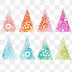 Vector Color Christmas Tree - Christmas Tree Euclidean Vector PNG