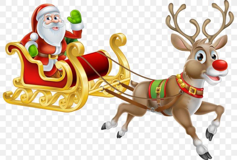 Santa Claus's Reindeer Christmas Santa Claus's Reindeer Illustration, PNG, 800x555px, Rudolph, Christmas, Christmas Decoration, Christmas Music, Christmas Ornament Download Free