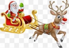 Hand-painted Reindeer - Santa Claus's Reindeer Christmas Santa Claus's Reindeer Illustration PNG