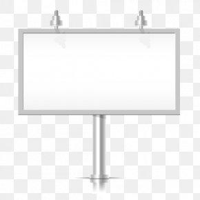 Vector Outdoor Billboard - Euclidean Vector Billboard PNG