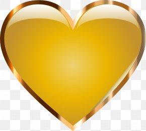 Gold Starburst Photos - Heart Gold Love Clip Art PNG