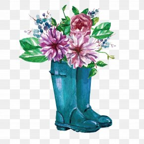 Vector Rain Boots Flowers - Nanaimo Our Lady's School Glemham Hall Terenure Message PNG