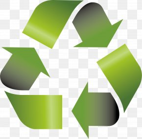 Green Flag Vector Material - Recycling Symbol Icon PNG
