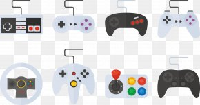 Vector Gamepad - Video Game Console Gamepad Joystick PNG