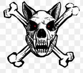 Old West Graphics - Police Dog Skull And Crossbones Clip Art PNG