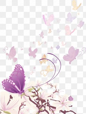Swirling Butterfly - Butterfly Euclidean Vector Flower Illustration PNG