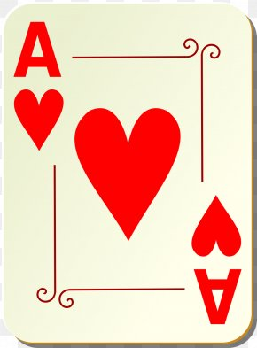 Cards - Playing Card Ace Of Hearts Suit Clip Art PNG
