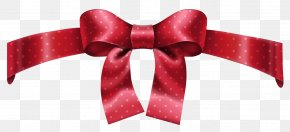 Red Dotted Bow Clipart Picture - Bow And Arrow Icon PNG
