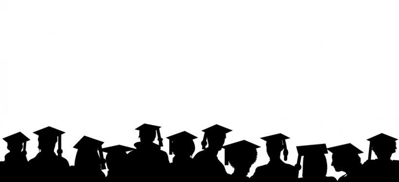 Graduation Ceremony Graduate University Clip Art, PNG, 888x406px, Graduation Ceremony, Academic Degree, Bachelors Degree, Black, Black And White Download Free