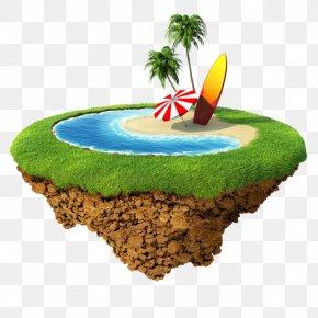 Floating Island - Stock Photography Stock Illustration Land Illustration PNG