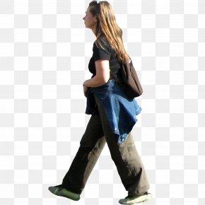 Sitting Man - Walking Woman Jogging PNG