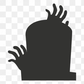 Cemetery - Headstone Cemetery Silhouette Logo PNG