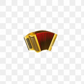 Golden Accordion - Diatonic Button Accordion Musical Instrument PNG