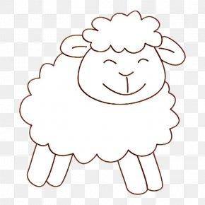 Drawing Smile - White Sheep Sheep Line Art Head PNG