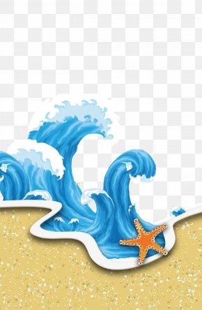Blue Wave - Wind Wave Cartoon PNG
