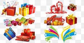 Festive Gift Box Gift Wrapping - Gift Box Christmas Designer PNG