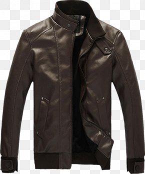 Leather Jacket - Leather Jacket Clothing Coat PNG