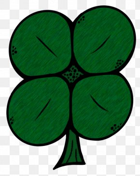 Happy St Patricks Day Clipart - Four-leaf Clover Clip Art PNG