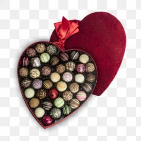 Chocolate Box - Praline Chocolate Heart Bonbon Valentine's Day PNG
