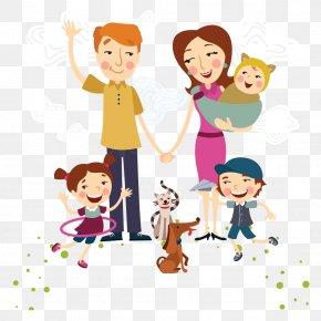 Cartoon Happy Family - Family Happiness Euclidean Vector Illustration PNG