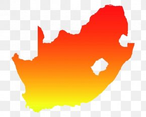 Orange Map Of South Africa - South Africa PNG