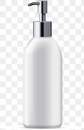 Vector Painted Shampoo Water Bottles - Shampoo Bottle Computer File PNG