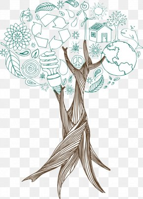 Tree - Tree Drawing Illustration PNG