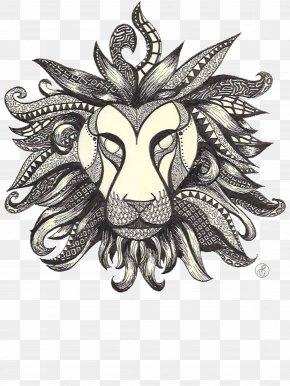 Zetangle - Lion Drawing Ballpoint Pen Artwork PNG