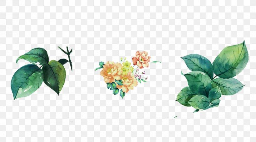 Leaf Watercolor Painting Flower, PNG, 900x500px, Leaf, Aquarium Decor, Branch, Chinoiserie, Cut Flowers Download Free