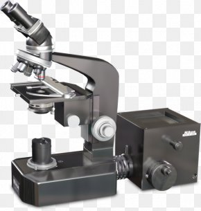 Inverted Microscope With Camera - Microscope Product Design Angle PNG
