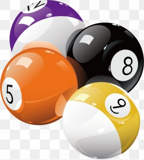 Billiards Vector Material - Pool Billiard Ball Billiards Eight-ball PNG