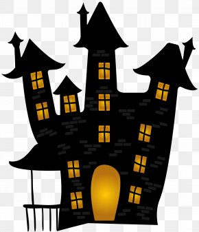 Halloween Scary House Clip Art Image - Halloween Ghost Clip Art PNG