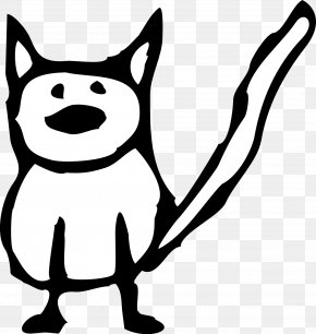 Cat Cartoon Black And White - Cat Kitten Black And White Cartoon Clip Art PNG
