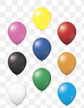 Balloon - Balloon Latex Bag Car Ribbon PNG