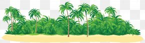 Summer Tropical Island With Palm Trees Clip Art Image - New Britain Tropical Islands Resort Icon PNG