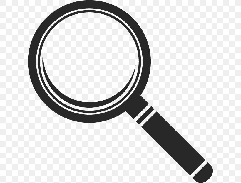 Magnifying Glass Euclidean Vector Light, PNG, 630x624px, Magnifying Glass, Black And White, Brand, Hardware, Lens Download Free