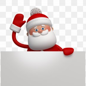 Lovely Cartoon Santa Claus - Ded Moroz New Year Holiday Ansichtkaart Christmas PNG