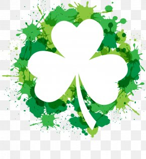 St. Patrick's Day Poster - Shamrock Saint Patrick's Day Four-leaf Clover Clip Art PNG