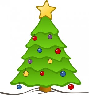 Holiday Spirit Cliparts - Christmas Tree Clip Art PNG