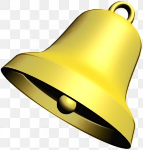 Metal Musical Instrument - Yellow Bell Handbell Brass Musical Instrument PNG