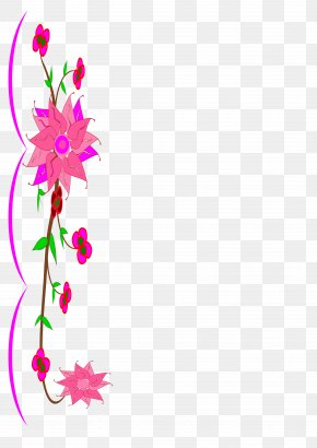 Blank Flowers Cliparts - Flower Floral Design Clip Art PNG