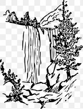 Water Falling Cliparts - Nature Drawing Clip Art PNG